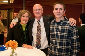 photo of the Deshons at Mark's retirement reception