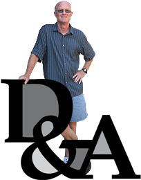 photo of Mark with his business logo