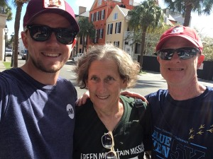 photo of Jordan, Jo Anne, and Mark in Charleston, S.C.